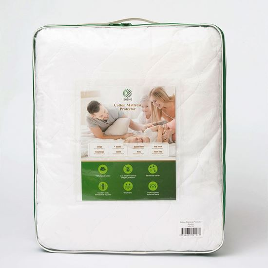 "Picture of ""SHENG"" Cotton Mattress Protector"